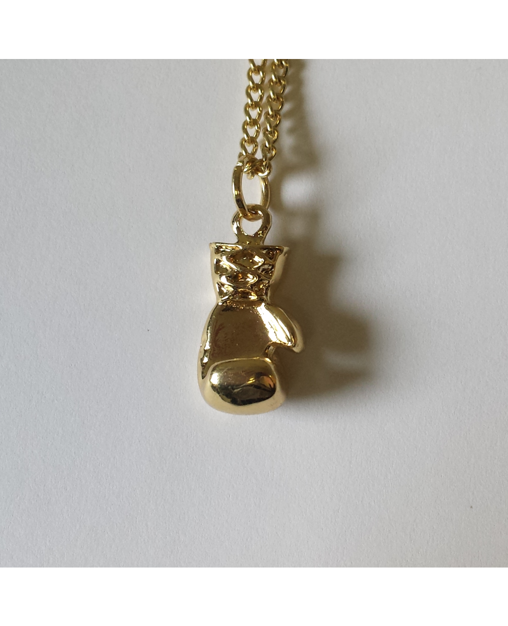 Rocky Balboa Boxing Glove Gold Necklace