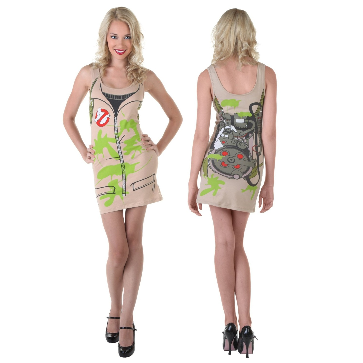 Details about ghostbusters womens tank dress costume tunic top uniform