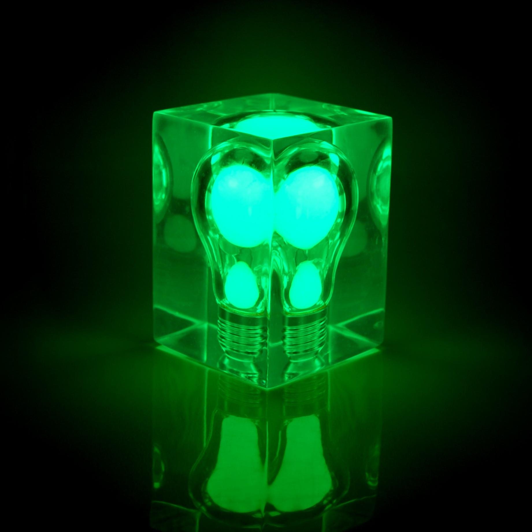 green glow in the dark light bulb brick solar powered night light new. Black Bedroom Furniture Sets. Home Design Ideas