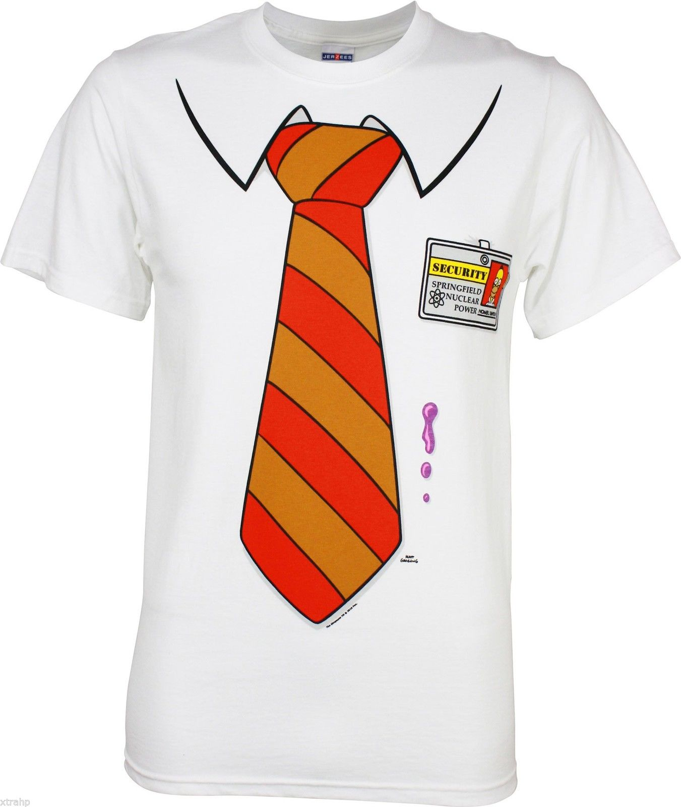 Homer simpson t shirt costume the simpsons tie springfield for Costume t shirts online