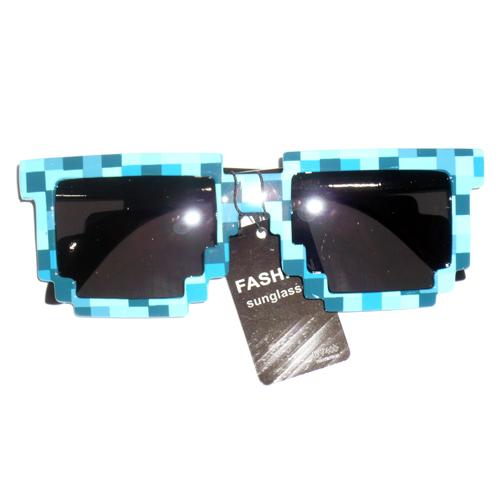 Pixelated Sunglasses  8 bit pixelated sunglasses choose your color geek nerd 90 039 s