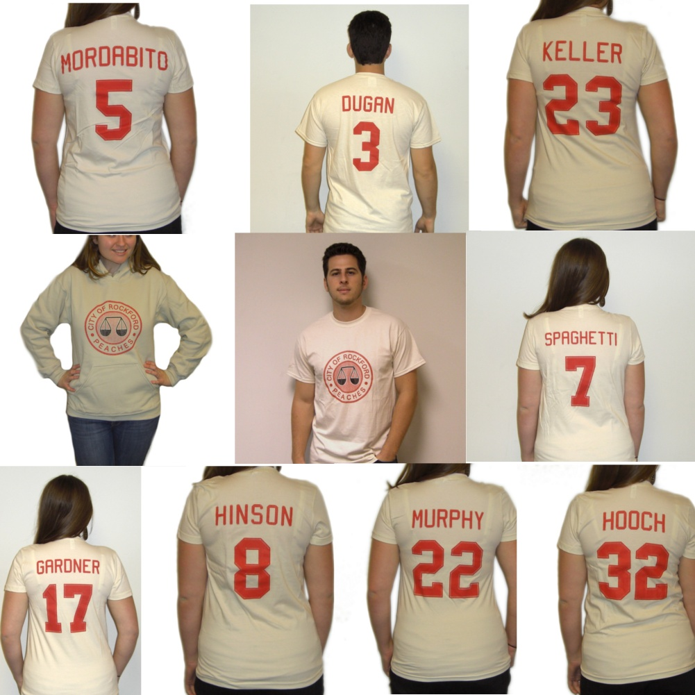 Rockford Peaches T Shirt Jerseys Choose Player Costume A League Of Their Own Ebay