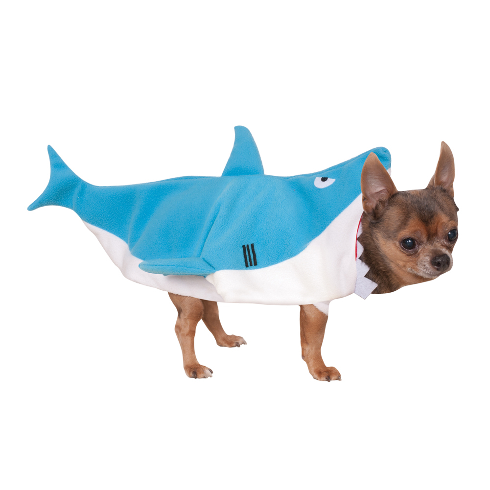 Shark attack pet costume dog puppy cat funny fun jaws for Fish for pets