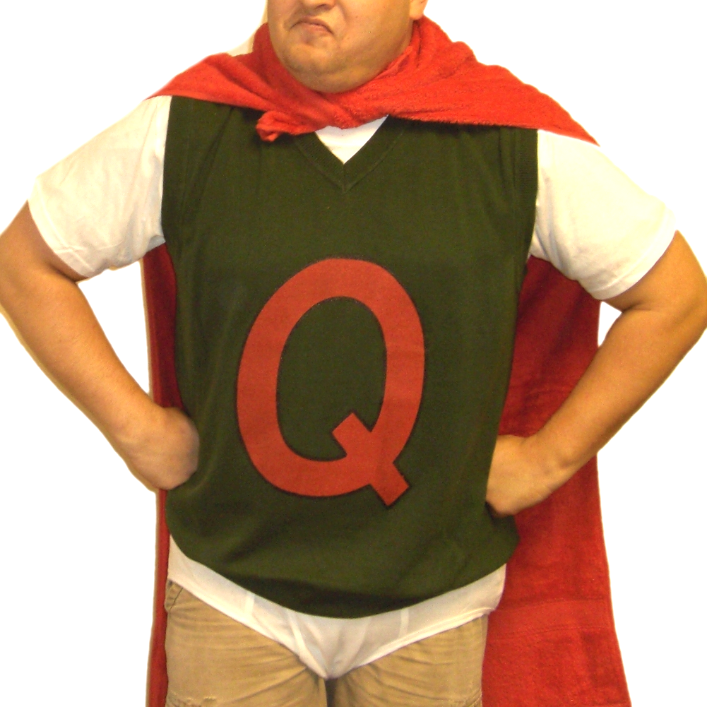 Quailman Sweater Vest Doug Funnie Q Adult Quail Man ... Quailman Costume