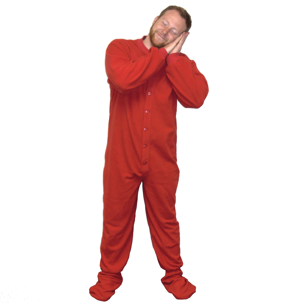 Adult Footed Pajamas (Choose Your Color & Size) Footie ...