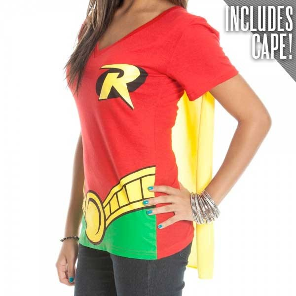 Superhero Womens T Shirts With Cape Choose Your Character