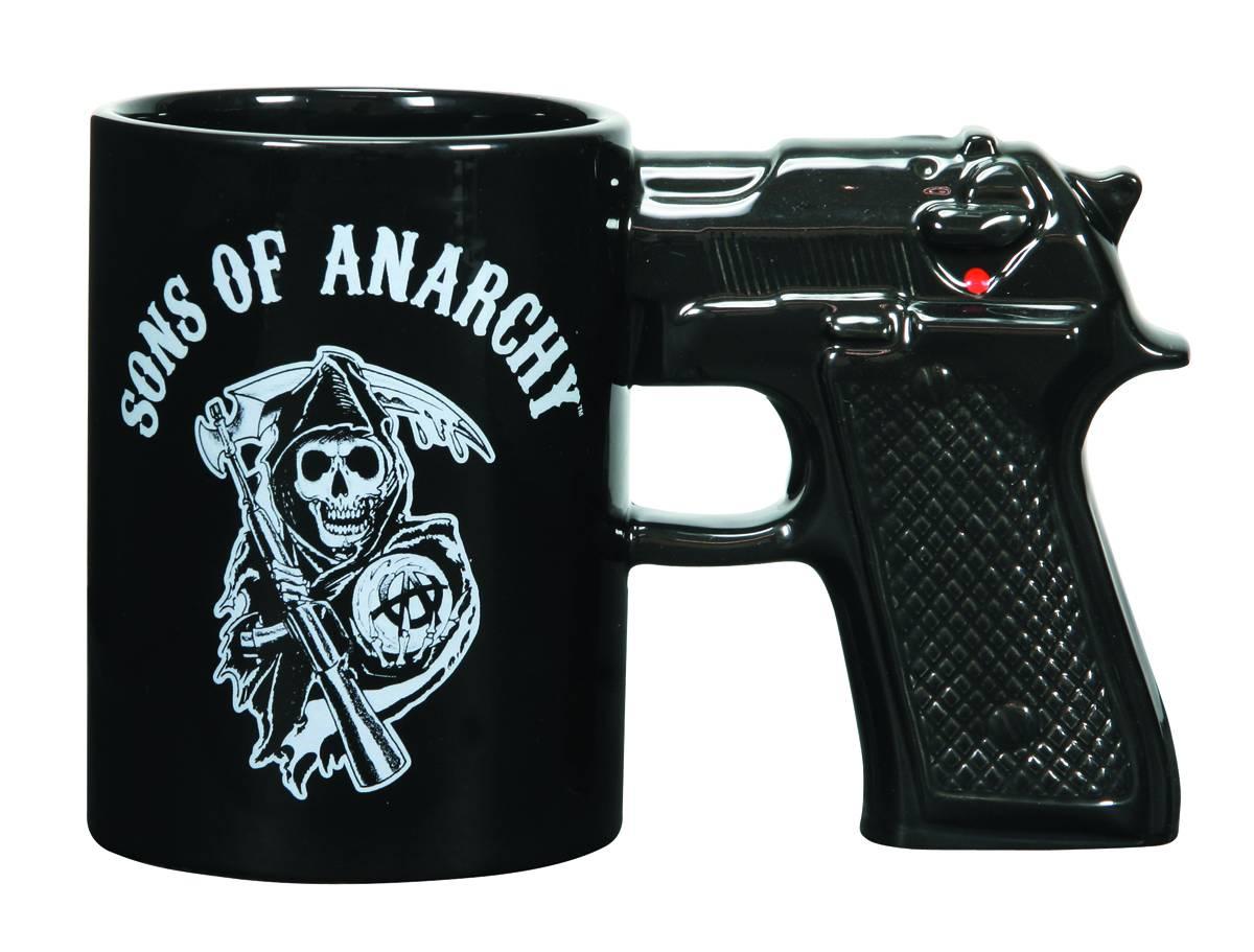 Sons of Anarchy Gun Handle Coffee Mug Grim Reaper Logo ...