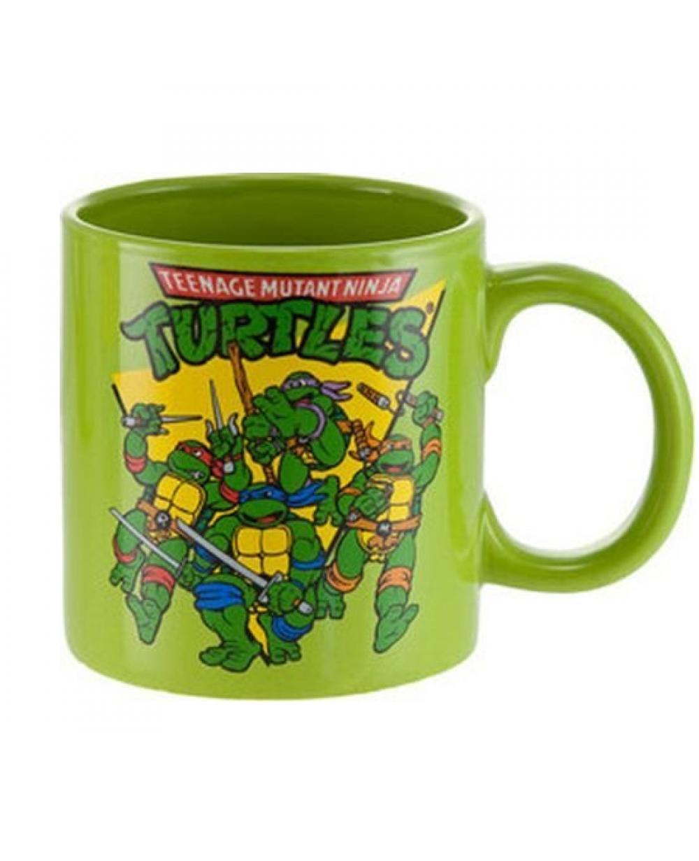 Teenage Mutant Ninja Turtles Turtle Power 20 oz Embossed Ceramic Coffee Mug NEW