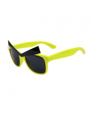 Yellow Wayfarer Sunglasses With Eyebrows