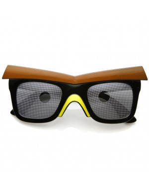 Black Bird Sunglasses With Beak