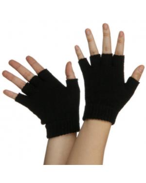 Black Fingerless Gloves (Pair)