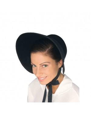 Black Felt Bonnet