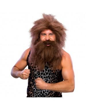 Caveman Wig And Beard Set