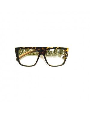 Chunky Tortoise and Gold Hip Hop Glasses