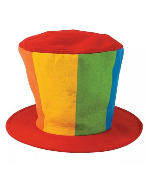 Felt Oversized Clown Top Hat