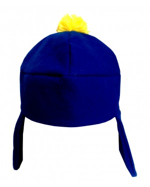 Craig Tucker Blue And Yellow Costume Hat With Ear Flaps