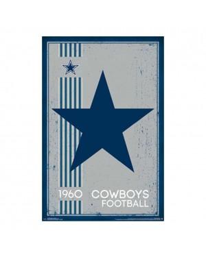 Dallas Cowboys Retro Logo Poster