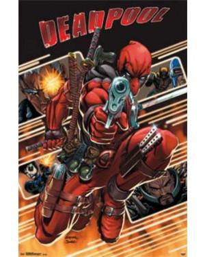 Deadpool Attack Marvel Poster