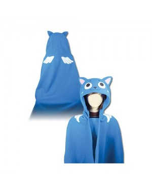 Fairy Tail Happy Hoodie Blanket