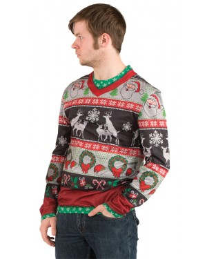 Frisky Deer Ugly Christmas Sweater