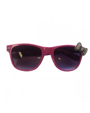 Pink Wayfarer Sunglasses With White Bow
