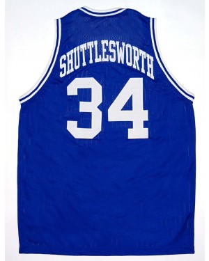 Jesus Shuttlesworth #34 Lincoln Blue Basketball Jersey