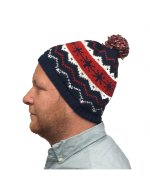 Kevin McCallister Snowflakes Blue Knit Beanie Hat