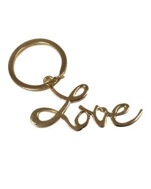 Gold Love Key Chain