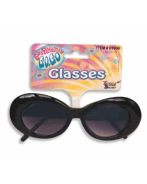 Jackie O Black Round Sunglasses