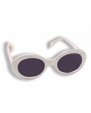 Jackie O White Round Sunglasses