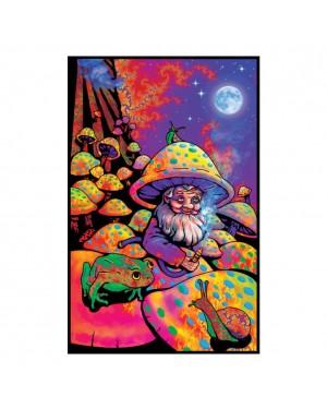 Mushroom Man Blacklight Poster