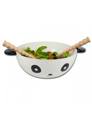 Panda Bowl With Utensils