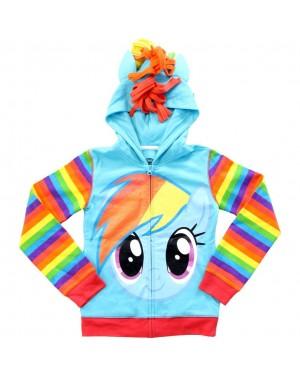 Rainbow Dash Glitter My Little Pony Youth Hoodie Costume