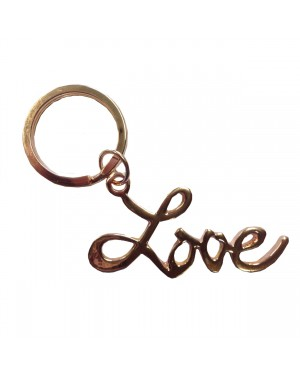 Rose Gold Love Key Chain