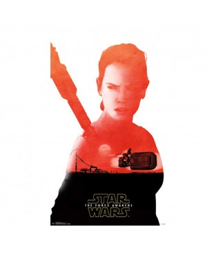 Star Wars The Force Awakens Rey Badge Poster