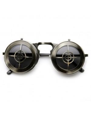 Flip Up Bullseye Gunmetal Sunglasses