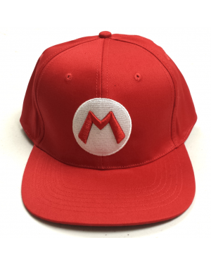 Mario M Logo Red Baseball Cap