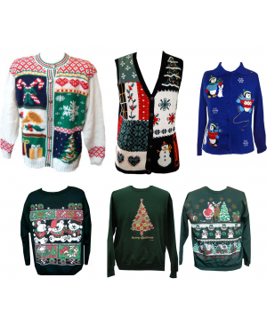 Ugly Christmas Sweater Or Sweatshirt With Design Chosen At Random