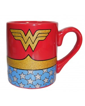 Wonder Woman Uniform Glitter Coffee Mug