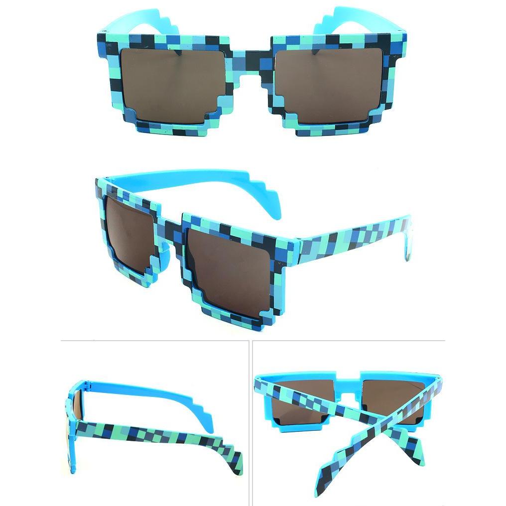 2a9f804cab 8-bit Pixelated Blue Sunglasses Geek Gamer Square Retro Nerd 90 s ...