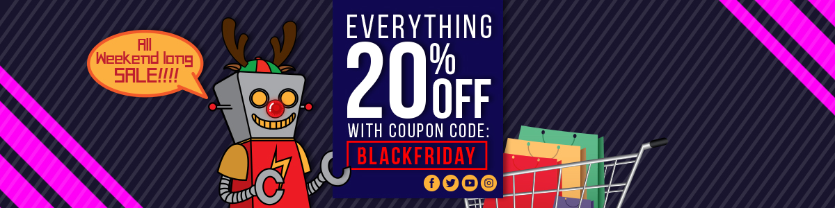 Black Friday Sale Starts Now! 20% OFF EVERYTHING!